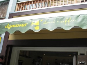 Dynamo Donut - The front awning
