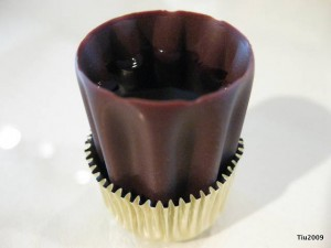 Raspberry Wine Chocolate Cup