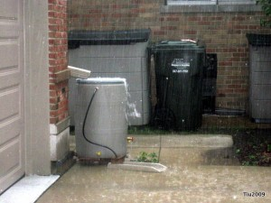 Rain barrel at work