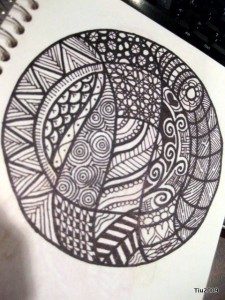 Black and white mandala-ish
