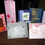 Handcrafted cards ready for silent auction