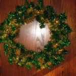 Finished sparkly wreath
