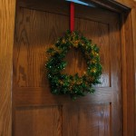 Sparkly Wreath: On the door