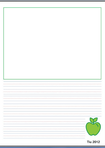 Teacher letter template - drawing and writing space
