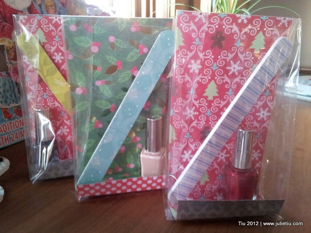 Use scrapbook paper and clear party favor bags
