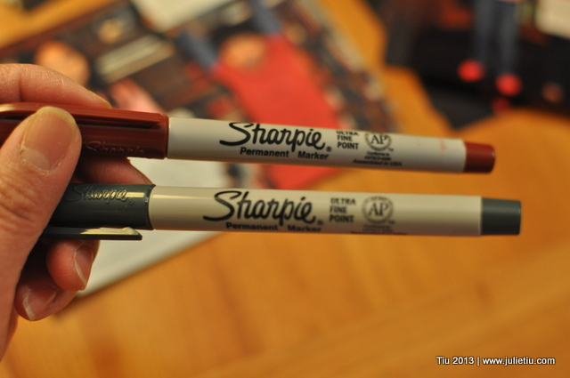 Use Sharpies on glossy photos