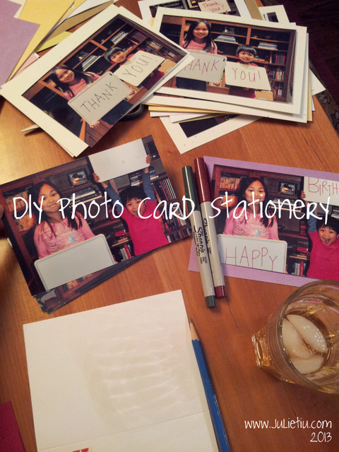 DIY Photo Card Stationery