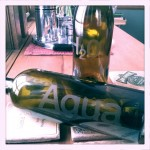 Glass Etching Wine Bottle