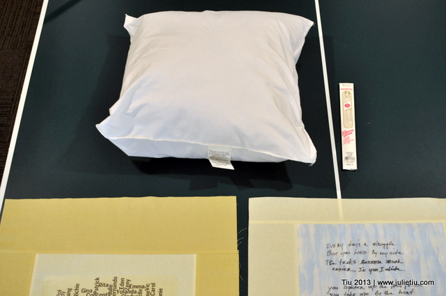 Materials used in the memory pillow project