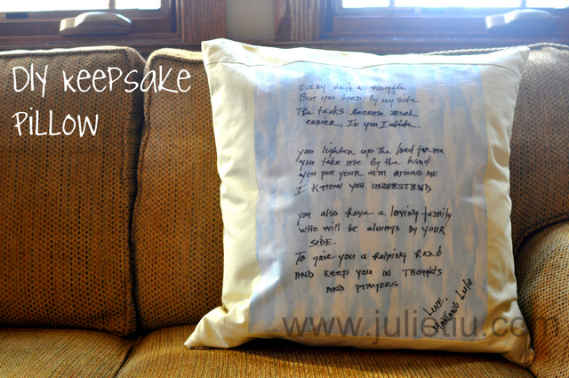 Handcrafted Keepsake Pillow