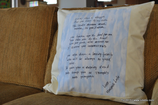 Keepsake Pillow makes a thoughtful gift