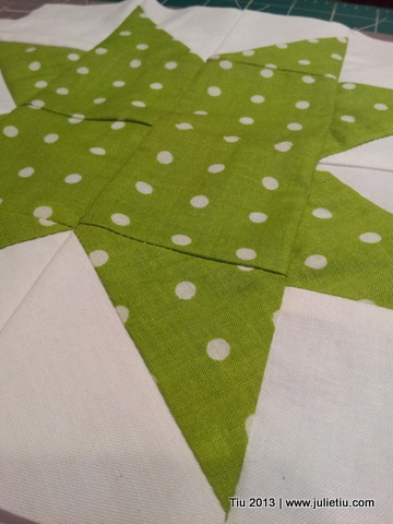 North Star quilt square