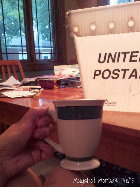 Monday Mugshot home going through mail