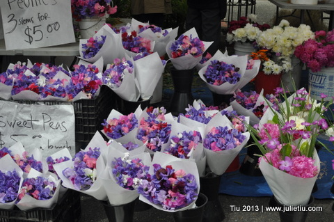 Sweet Peas at the Farmer's Market