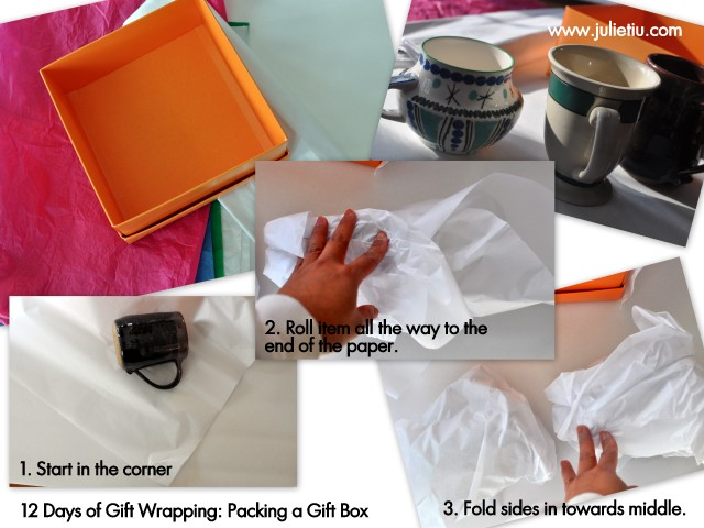 12 Days of Gift Wrapping, Julie Tiu, Basic supplies