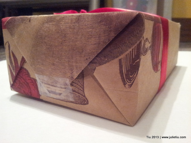 12 Days of Gift Wrapping: Use a store paper bag instead of gift wrap