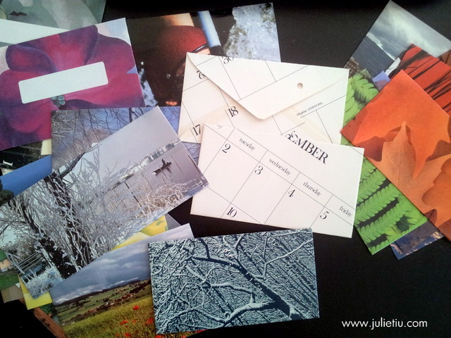 Crafting envelopes from old magazines and calendars