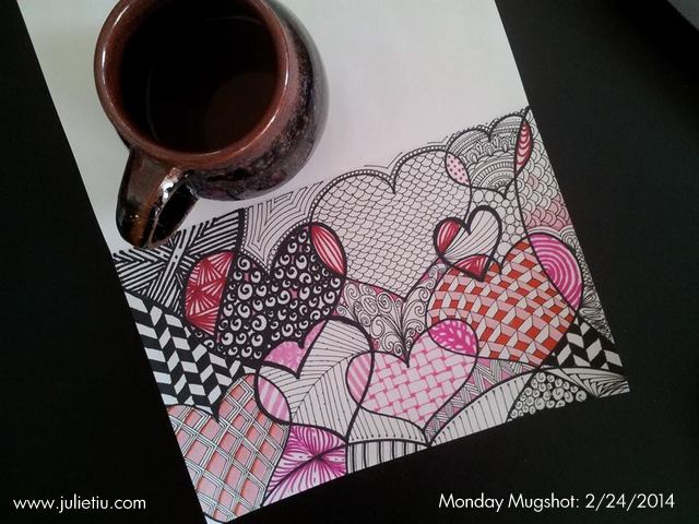 Mugshot Monday Zentangle inspired Doodling hearts