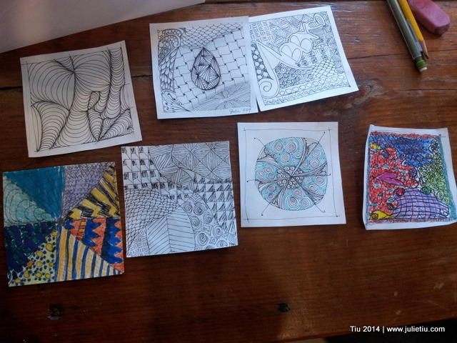 Drawing. Doodling. Zentangles. Julie Tiu.
