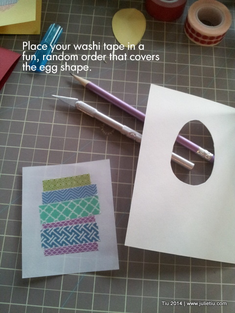Washi tape Easter egg greeting cards