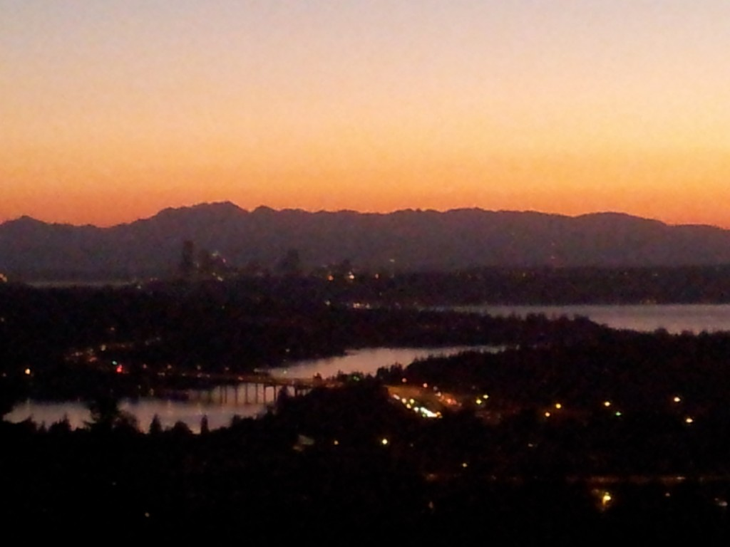 Bellevue WA at Sundown
