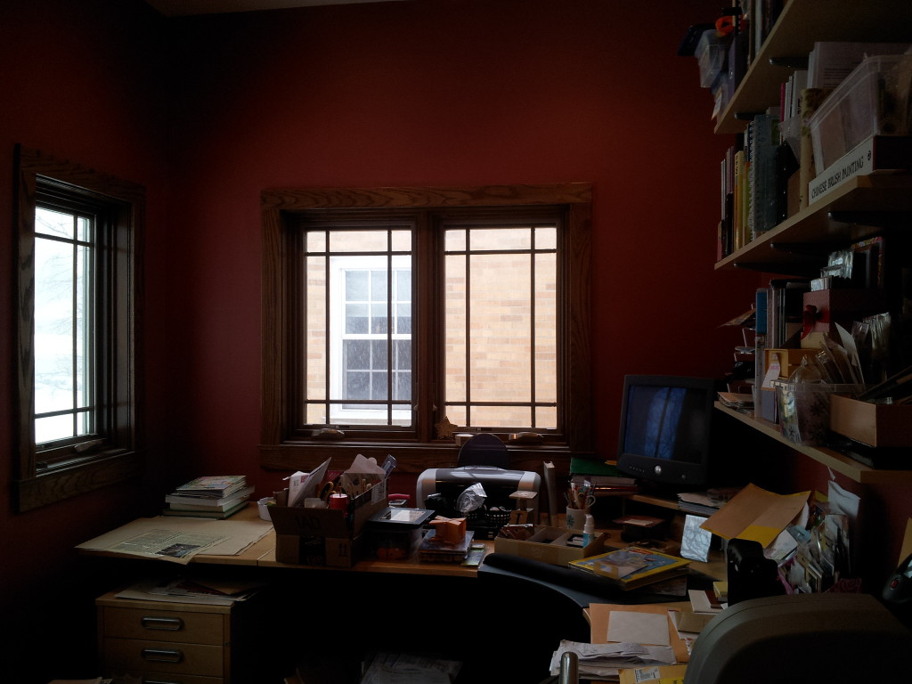 The mess that is becoming my craft office.